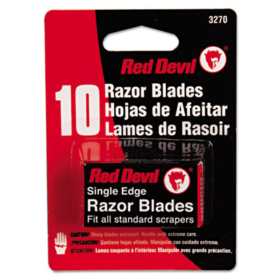 Single edge scraper razor blades, 2 packs of 5 blades, sold as 10 each