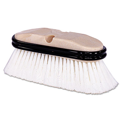 Truck wash brush, o handle, flagged, white, 9-1/2, sold as 1 each