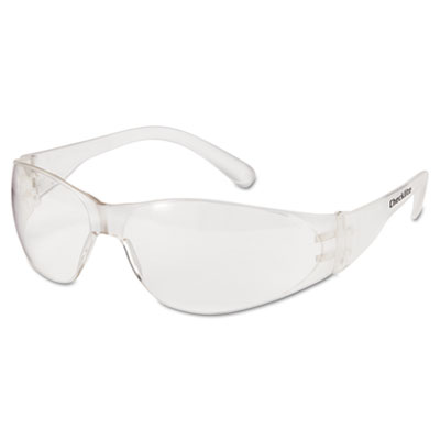 Checklite safety glasses, clear frame, clear lens, sold as 1 box, 12 each per box