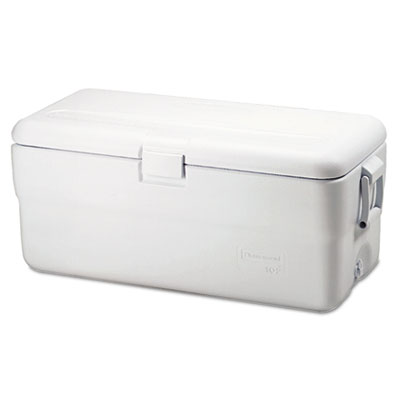 Marine series ice chest, 102qt, white, sold as 1 each
