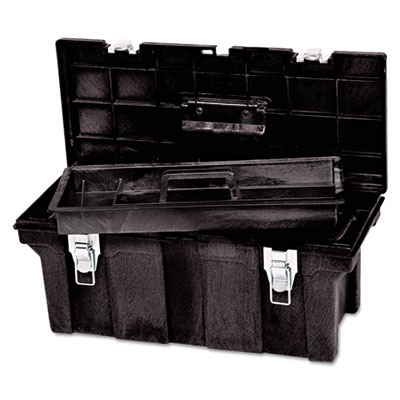 Tool box, 26in, black, sold as 1 each