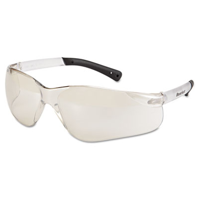 Bearkat safety glasses, frost frame, clear mirror lens, sold as 1 each
