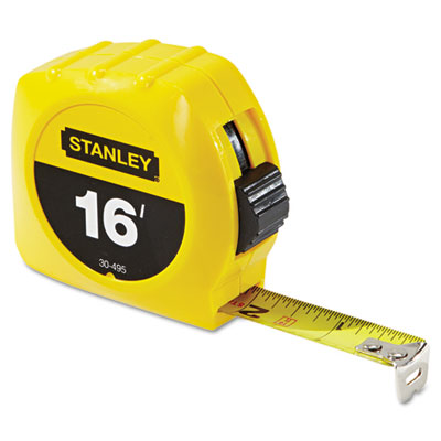"""Tape rule, 3/4"""""""" x 7ft, plastic case, yellow, 1/16"""""""" graduation, sold as 1 each"""