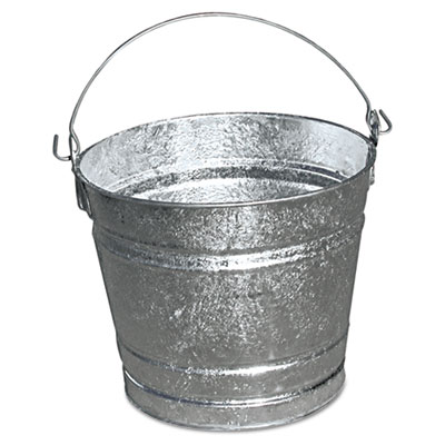 Galvanized pail, 10qt, steel, 12/box, sold as 12 each
