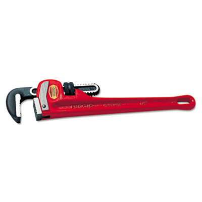 "Ridgid cast-iron straight pipe wrench, 6"""" long, 3/4"""" jaw capacity, sold as 1 each"