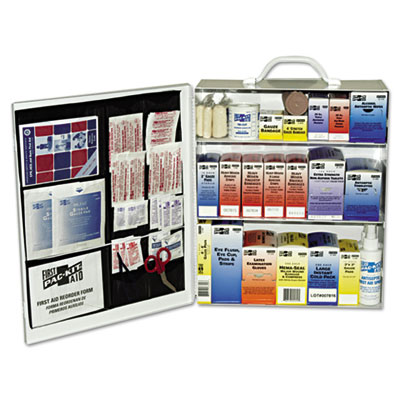 Industrial station first aid kit, 440 items, metal case, sold as 1 kit