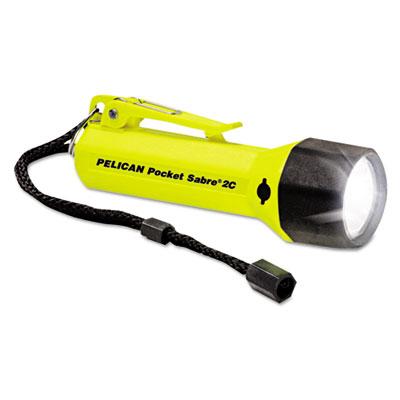 Pocket sabrelite flashlight, 2c, yellow, sold as 1 each