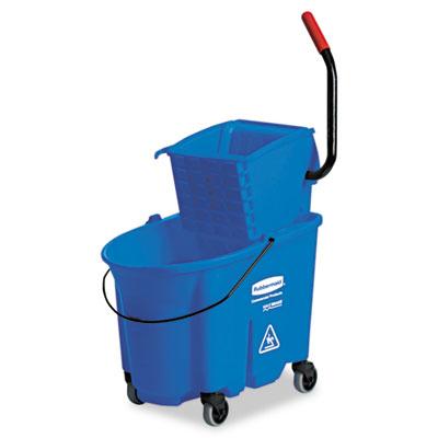 Wavebrake side-press wringer/bucket combo, 8.75gal, blue, sold as 1 each