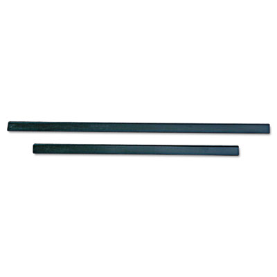"Ergotec replacement squeegee blades, 12"" wide, black rubber, soft, sold as 1 each"