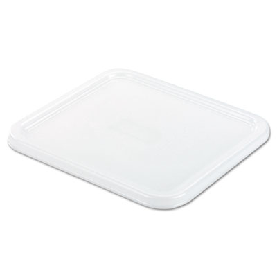 Spacesaver square container lids, 8 4/5w x 8 3/4d, white, sold as 1 each