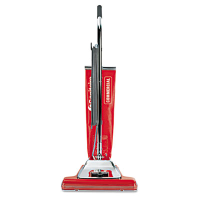"Widetrack commercial upright vacuum w/vibra groomer, 16"" path, 18.5lb, red, sold as 1 each"