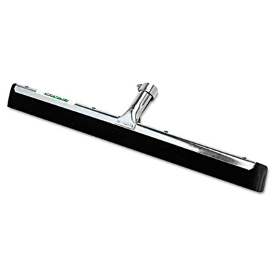 "Water wand standard floor squeegee, 18"" wide blade, black rubber, insert socket, sold as 1 each"