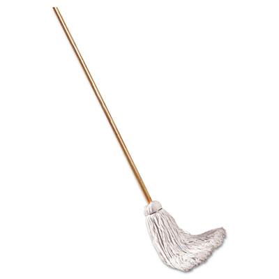 "Deck mop; 48"" wooden handle, 12oz cotton fiber head, 6/pack, sold as 1 package"