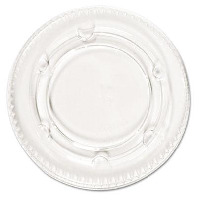 Crystal-clear portion cup lids, fits 1.5-2.5oz cups, 2400/carton, sold as 1 carton, 2400 each per carton