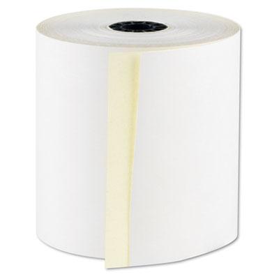 "Registrolls two-part carbonless pos rolls, 3"" x 100', white, 30/carton, sold as 1 carton, 30 each per carton"