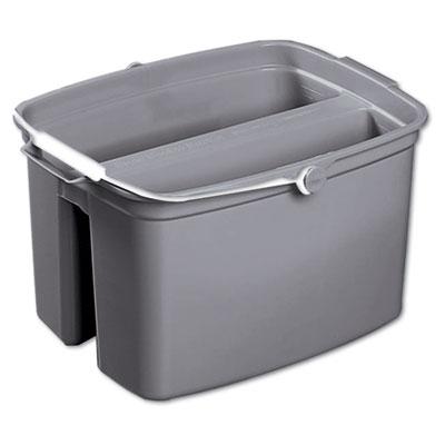 Double utility pail, 17qt, gray, sold as 1 each