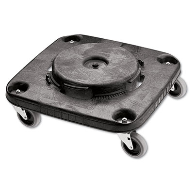 Brute container square dolly, 250 lb capacity, black, sold as 1 each