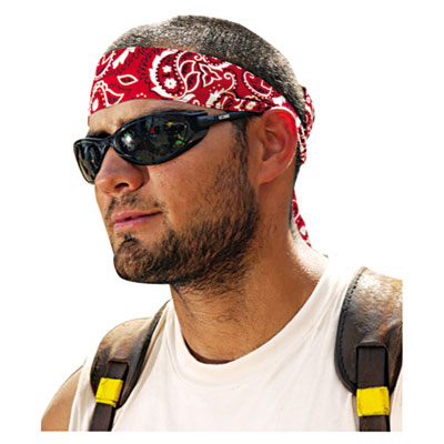 Chill-its 6700/6705 bandana/headband, one size, red western, sold as 1 each