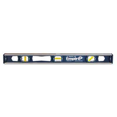 "581 series magnetic i-beam level, 24"""" long, aluminum, tri-vial, sold as 1 each"