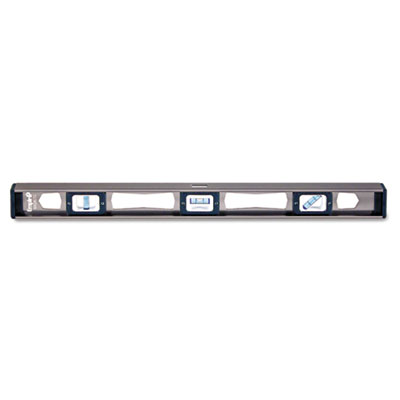 "Em81 series true blue magnetic i-beam level, 24"""" long, aluminum, tri-vial, sold as 1 each"