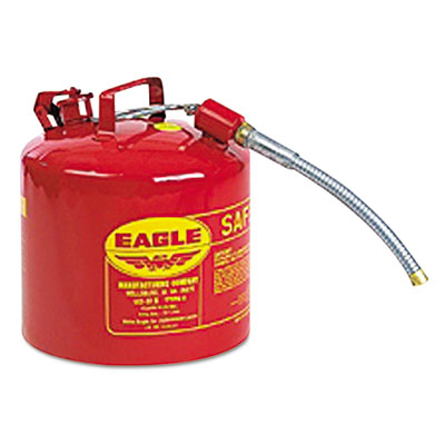 Type ii safety can, 2 gallon, red, metal spout, sold as 1 each