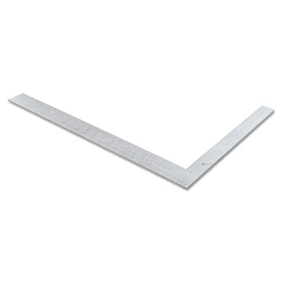 "Fat boy"""" aluminum framing square, 16"""" x 24"""", 1/16"""" graduations, aluminum/black, sold as 1 each"