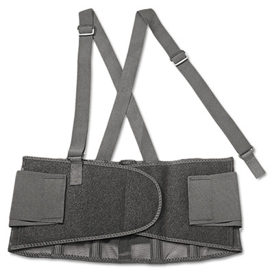 Proflex 100 economy back support, medium, black, sold as 1 each