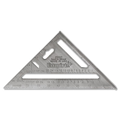 "Magnum heavy-duty rafter square, 7"""" edge, 1/8"""" graduations, aluminum, sold as 1 each"
