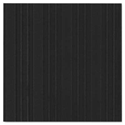 Ribbed vinyl anti-fatigue mat, 36 x 60, black, sold as 1 each