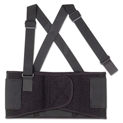 Proflex 1650 economy elastic back support, medium, black, sold as 1 each