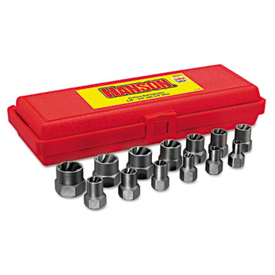 "13-piece bolt extractor set, 3/8in drive, 1/4""""-3/4, sold as 13 each"