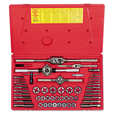 54-piece machine screw/fractional tap and die super se, sold as 54 each