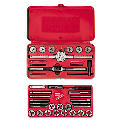 Hanson tap & die set, steel, 39 pieces, sold as 39 each