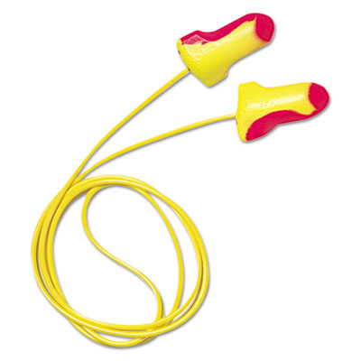 Ll-30 laser lite single-use earplugs, corded, 32nrr, magenta/yellow, 100 pairs, sold as 100 each