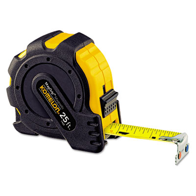 "Maggrip tape measure, 1"""" x 25ft, metal case, black/yellow, 1/16"""" graduation, sold as 1 each"
