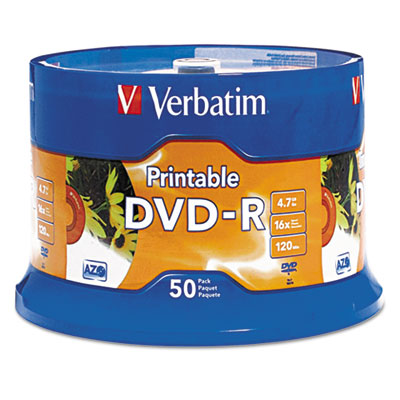 Dvd-r disc, 4.7 gb, 16x, white, 50/pk, sold as 1 package