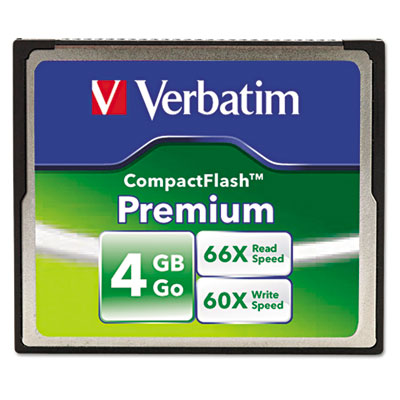 Premium compactflash memory card, 4gb, sold as 1 each
