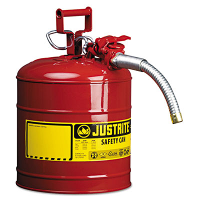 """Accuflow safety can, type ii, 5gal, red, 1"""""""" hose, sold as 1 each"""