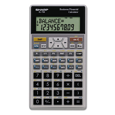 El-738c financial calculator, 10-digit lcd, sold as 1 each