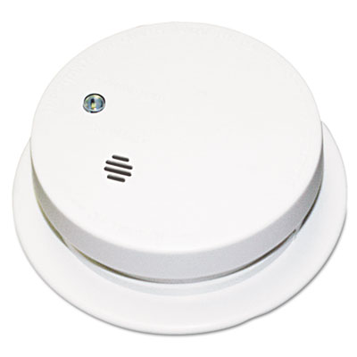 "Battery-operated smoke alarm unit, 9v, 85db alarm, 3 7/8"""" dia, sold as 1 each"