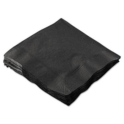 Beverage napkins, 2-ply, 9 1/2 x 9 1/2, black, 1000/carton, sold as 1 carton, 1000 each per carton