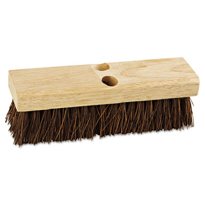 "Deck brush head, 10"" wide, palmyra bristles, sold as 1 each"