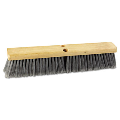 "Floor brush head, 18"" wide, flagged polypropylene bristles, sold as 1 each"