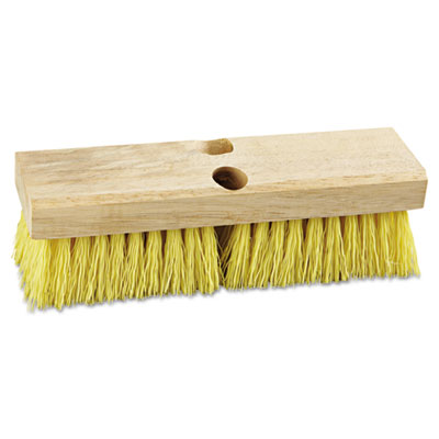 "Deck brush head, 10"" wide, polypropylene bristles, sold as 1 each"