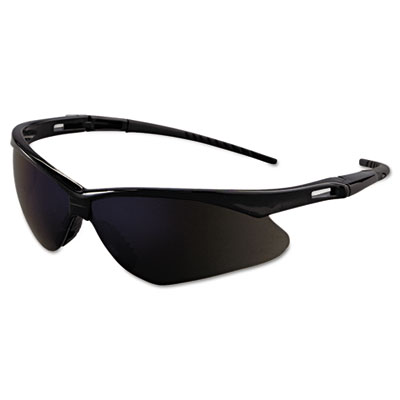 Nemesis safety glasses, black frame, blue mirror lens, sold as 1 each