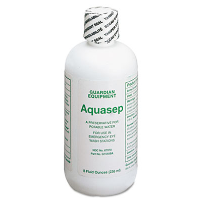 Additive for portable emergency eyewash stations, 8oz bottle, sold as 1 each
