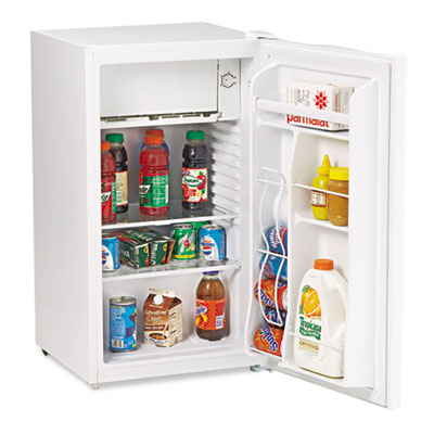 3.3 cu.ft refrigerator with can dispenser and door bins, white, sold as 1 each