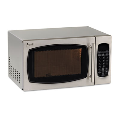 0.9 cubic foot capacity stainless steel microwave oven, 900 watts, sold as 1 each