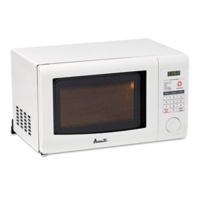 0.7 cubic foot capacity microwave oven, 700 watts, white, sold as 1 each