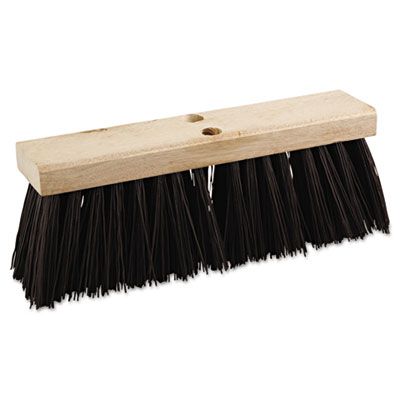 "Street broom head, 16"" wide, polypropylene bristles, sold as 1 each"